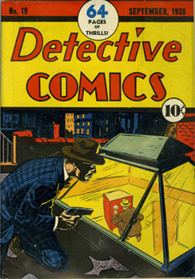 Detective Comics #19, rare pre-superhero 1930s issue. Click for values