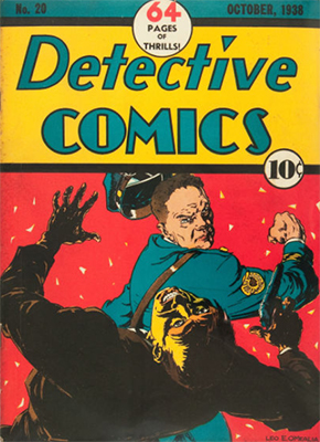 Detective Comics #20, 1930s comic book and very rare. Click for value