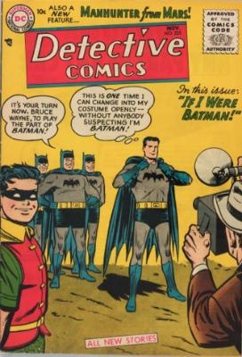 Detective Comics #225 (1955): First appearance of The Martian Manhunter (J'onn J'onzz). Click for values