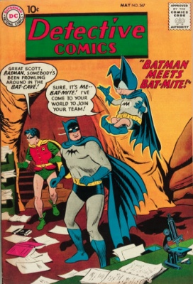 Bat-Mite makes his first appearance in Detective Comics #267. Click for values
