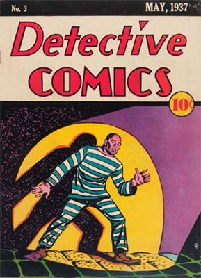 Detective Comics #3 has a classic searchlight cover