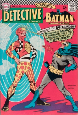Origin and First Appearance, Spellbinder (Delbert Billings), Detective Comics #358, DC Comics, 1966. Click for value