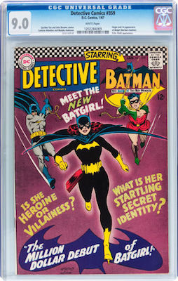 There are so many lower grade examples of Detective Comics #359 that prices are not firm. Look for a CGC 9.0 and you will enjoy owning it. Click to buy a copy