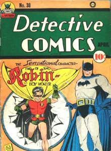 Detective Comics #38 (1940). First appearance of Robin, the Boy Wonder. Rare!
