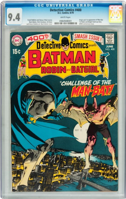 Detective Comics #400 is common enough that you should aim high. The price difference between 9.0 and 9.4 is only about $200. Click to buy a copy