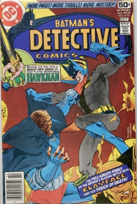 Origin and First Appearance, Fadeaway Man, Detective Comics #479, DC Comics, 1978. Click for value