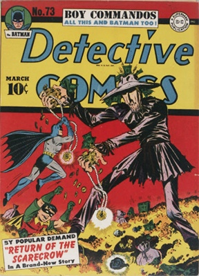 Detective Comics#73 (March 1943): First Scarecrow Cover. Click for values