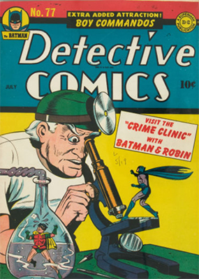 Origin and First Appearance, Crime Doctor, Detective Comics #77, DC Comics, 1943. Click for value