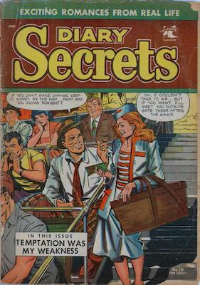 Diary Secrets #19: Matt Baker cover. Click for values