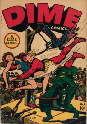 Dime Comics #1: Origin and First Appearance, Johnny Canuck. A very rare Canadian White comic. Click for values