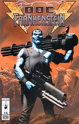 Origin and First Appearance, Doc Frankenstein, Doc Frankenstein #1, Burlyman Entertainment, 2004. Click for value