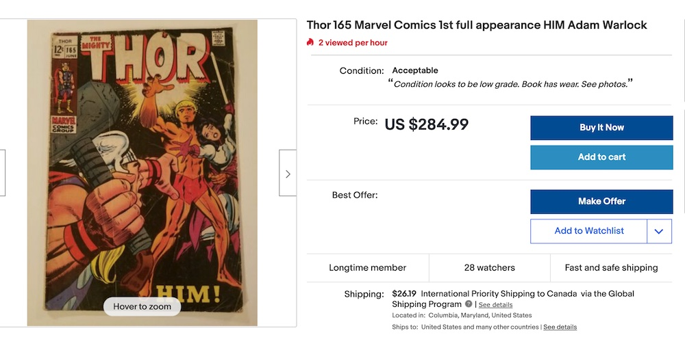 eBay is the world's biggest marketplace. It is easy to get over-excited when you buy comics online