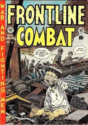 Frontline Combat was one of the first realistic (non-glorified) war comics. Click for values