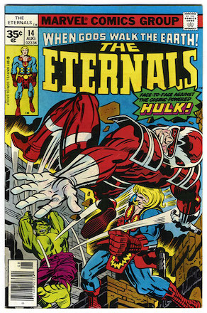 Eternals comic #14 exists as a 35c price variant. RARE! Click for more info