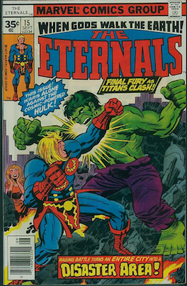 Eternals comic #15 exists as a 35c price variant. RARE! Click for more info