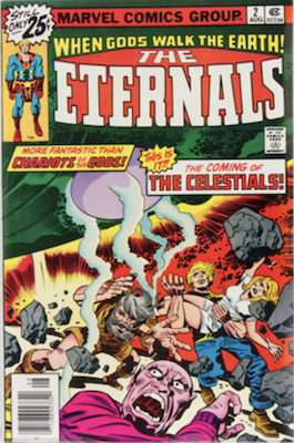 Eternals #2 from 1976 is the first appearance of Ajak. Click to buy