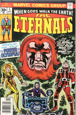 The Eternals Comics #5: 1st Appearance of Thena. Click for values