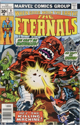 Eternals #9: 1st appearance of Sprite. Click for values