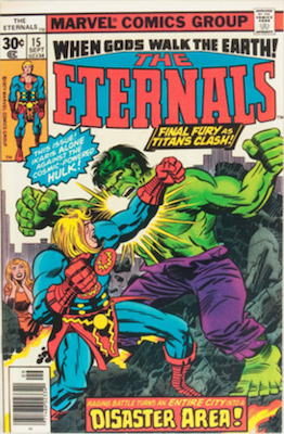 The Eternals #15: Eternals vs Hulk! Click for values