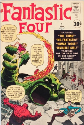 Origin and First Appearance, The Fantastic Four, Fantastic Four #1, Archie Comics, 1961. Click for values