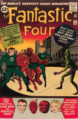 Origin and First Appearance, Impossible Man, Fantastic Four #11, Marvel Comics, 1963. Click for value