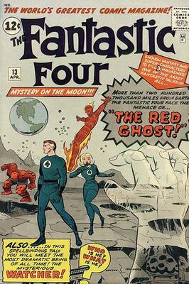 Origin and First Appearance, Red Ghost, Fantastic Four #13, Marvel Comics, 1963. Click for value