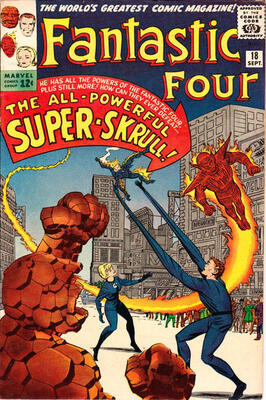 Origin and First Appearance, Super-Skrull, Fantastic Four #18, Marvel Comics, 1963. Click for value
