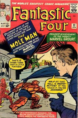 Origin and First Appearance, Moloid Subterraneans, Fantastic Four #22, Marvel Comics, 1964. Click for value