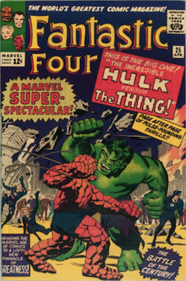 Fantastic Four #25: Hulk vs Thing rematch. Click for values