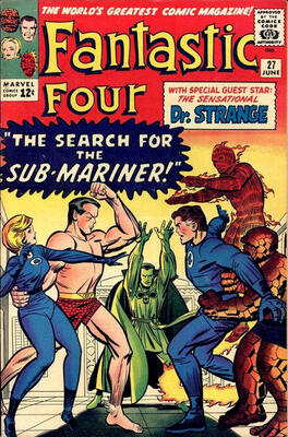 Fantastic Four #27 is the first full Dr. Strange cover appearance, and first Dr. Strange  crossover. Click to research on eBay