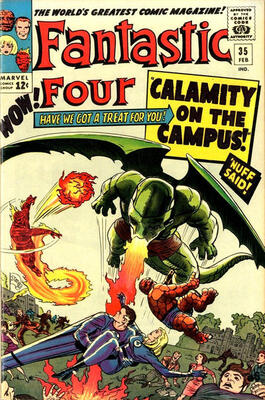 Origin and First Appearance, Dragon Man, Fantastic Four #35, Marvel Comics, 1965. Click for value