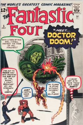 Origin and First Appearance, Doctor Doom, Fantastic Four #5, Marvel Comics, 1962. A huge key issue from the Silver Age. Click for value