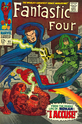 Origin and First Appearance, Ronan the Accuser, Fantastic Four #65, Marvel Comics, 1967. Click for value