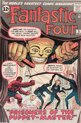 FF #8: 1st appearance of the Puppet Master. Click to buy