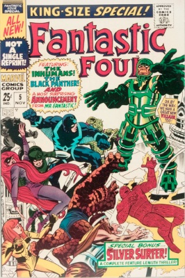 Origin and First Appearance, Psycho-Man, Fantastic Four Annual #5, Marvel Comics, 1967. Click for value