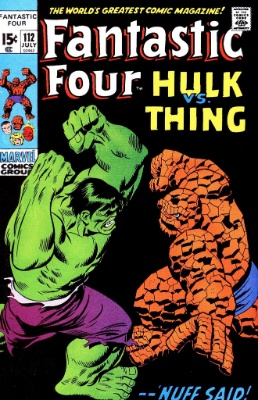 Fantastic Four #112 (1971): Classic Hulk vs Thing Cover. One of the most valuable bronze age comics. Click for prices