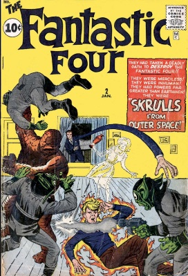 Fantastic Four #2 vs The Skrulls. Click for market value