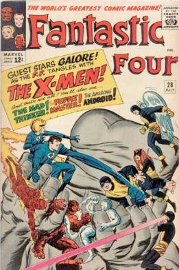 Fantastic Four #28 is a crossover with The X-Men. Click for values