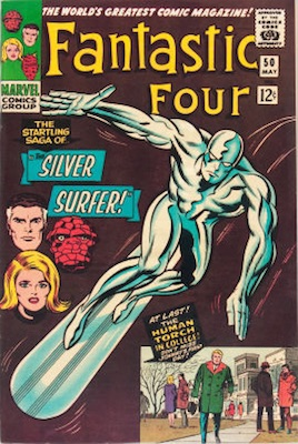 Fantastic Four #50, May, 1966: First Full Cover Appearance of the Surfer. Click for values