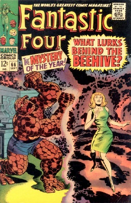 Fantastic Four #66, first brief mention of HIM (The Warlock). Click for value