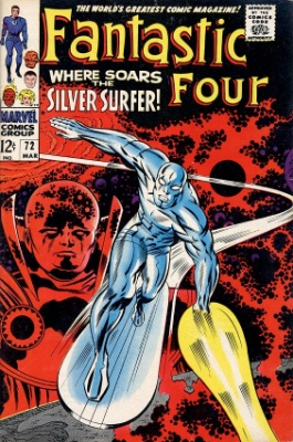 Fantastic Four #72, March, 1968: The Surfer Attacks! Click for value