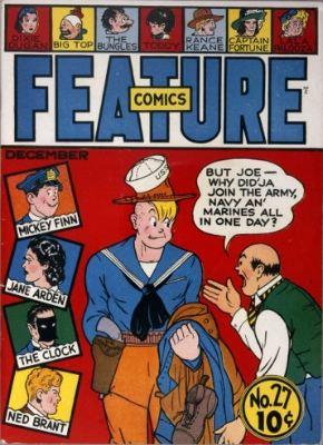 Feature Comics #27: Origin and First Appearance, Doll Man. A very rare comic book. Click for values
