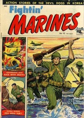 Fightin' Marines #10. Matt Baker war cover. Click for values