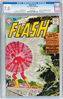 Be patient when shopping for Flash #110. In VG, it can be a nasty-looking book. Wait for a 6.0 or better to come along. Click to find yours!
