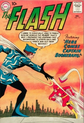 Origin and First Appearance, Captain Boomerang, Flash #117, DC Comics, 1960. Click for value