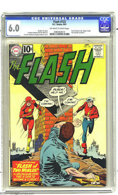 Flash #123 is expensive in higher grades. Try to find a nicely presenting CGC 6.0. Click to find one now