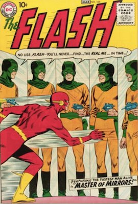 Just in, a collection of silver age DC comics, including Flash #105, which is always on our