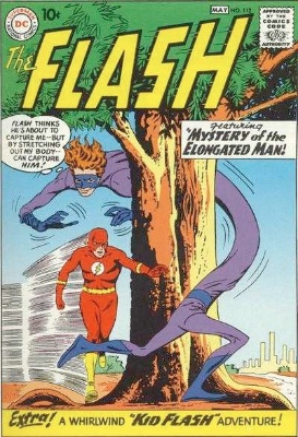Origin and First Appearance, Elongated Man, The Flash #112, DC Comics, 1960. Click for value