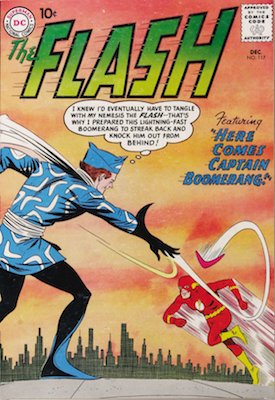 Flash #117: 1st Appearance of Captain Boomerang. Click for values