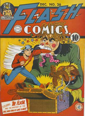 Origin and First Appearance, Rag Doll, Flash Comics #36, DC Comics, 1942. Click for value